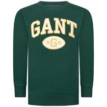 GANT(ガント ) キッズ用トップス Boys Green Cotton Collegiate Sweater
