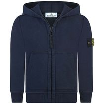 Boys Navy Zip Up Top