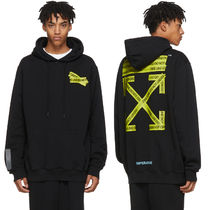即発送 OFF WHITE FIRETAPE TEMPERATURE ARROW HOODIE PARKA