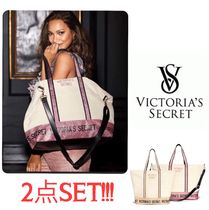 新作限定☆Victoria's secret weekender tote bag 2点SET 旅行