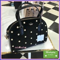 【kate spade】上品なベルベット+パール☆2wayバッグ reiley★