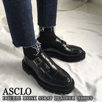ASCLO★韓国の人気★DOUBLE MONK STRAP LEATHER SHOES