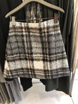 COS★  CHECKED WOOL A-LINE SKIRT スカート