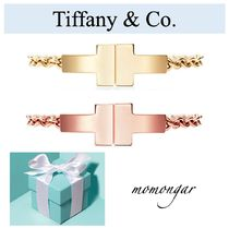 [Tiffany & Co.] T Two Chain Ring☆18k