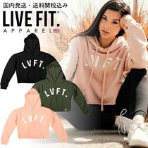 Live Fit(リブフィット) パーカー・フーディ 国内発送・送料関税込み☆LIVE FIT☆University Cropped Hoodie