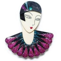 即納&国内発送【LaliBlue】Flapper Marion Brooch Purple