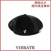 VIBRATE LEATHER SCULPTURE POINT BERET ベレー帽 ユニセックス