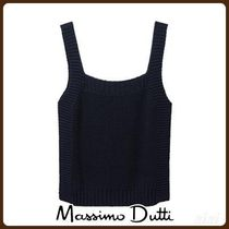 MassimoDutti♪COTTON TOP WITH RIBBED TRIMS