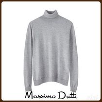 MassimoDutti♪PLAIN SILK/WOOL SWEATER
