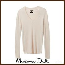 MassimoDutti♪IRREGULAR RIBBED SILK/COTTON SWEATER
