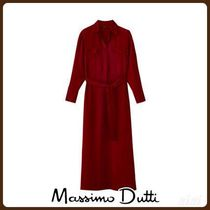 MassimoDutti♪SHIRT DRESS WITH LAPEL COLLAR