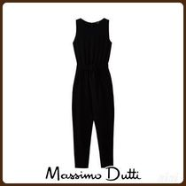 MassimoDutti♪PLAIN JUMPSUIT WITH TIE BELT