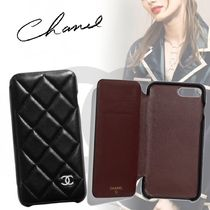 19CRUISE*CHANEL*iPhone 7 Plus & 8 Plus 手帳型 ケース BLACK