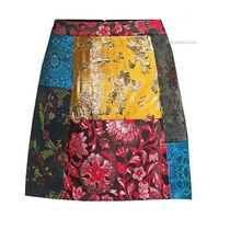 2018A/W送料込【Alice+Olivia】Riley Patchwork A-Line Skirt