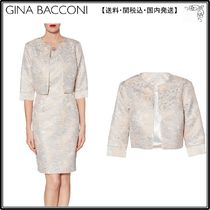 【海外限定】GinaBacconiコート☆Kitty Floral Jacquard Coat