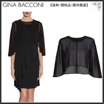 【海外限定】GinaBacconiケープ☆Chiffon Cape With Open Back D