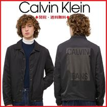 ★Calvin Klein★ STACKED COACH ロゴ付き ジャケット ブルゾン