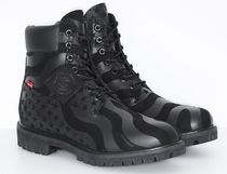 Timberland 6 × Supreme コラボ Stars & Stripes Black Boot