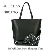 CHRISTIAN SIRIANO(クリスチャン シリアーノ) トートバッグ ★【送関込!】 Embellished Bow Shopper トート ★