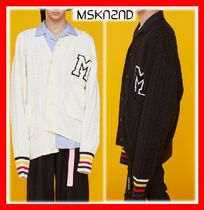 MSKN2ND(ムンスクォンセカンド) カーディガン 【MSKN2ND】☆COLORED CUFF RIBS KNITTED M PATCH CARDIGAN☆2色