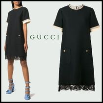 【関税送料込】NEW◆VIP価格◆GUCCI◆PEARL LACE DRESS