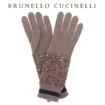 BRUNELLO CUCINELLI(ブルネロクチネリ) 手袋 【18AW】★BRUNELLO CUCINELLI★Sequined cashmer silk gloves