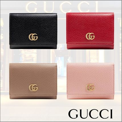 best authentic 06298 4a1a5 【国内発送】GUCCI◆プチ マーモント◆レザー 三つ折り財布