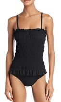Tory Burch Smocked One Piece Swimsuit