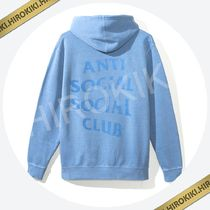 Anti Social Social Club Ghosted Light Blue Tonal Hoody ASSC
