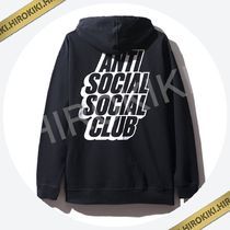 Anti Social Social Club Blocked Logo Black Zip UP Hoodie 黒