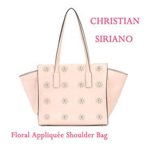 CHRISTIAN SIRIANO(クリスチャン シリアーノ) トートバッグ ★【送関込!】 Floral Appliquee ショルダーバッグ ★