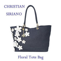 CHRISTIAN SIRIANO(クリスチャン シリアーノ) トートバッグ ★【送関込!】 Floral トートバッグ ★