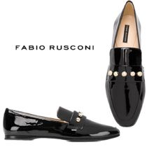 【18AW】★FABIO RUSCONI★studded varnished loafers