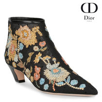 【VIP価格】Dior Floral Embroidery Ankle Boot