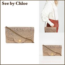 送料込み☆See by Chloe Polina Shoulder Bag  レザー ゴールド