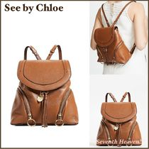送料込み☆See by Chloe Olga Convertible Backpack  茶/ 黒