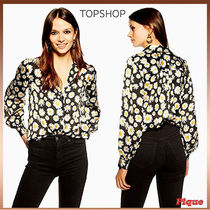 ★TOPSHOP★デイジープリントロングスリーブシャツ