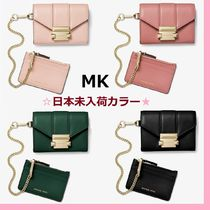◆SALE◆MK◆Whitney Small Leather Chain Wallet◆