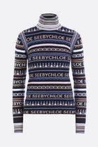 SEE BY CHLOE▲AW18/19geometric blend jacquard pullover