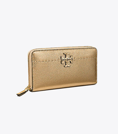 *トリーバーチ*MCGRAW METALLIC ZIP CONTINENTAL WALLET