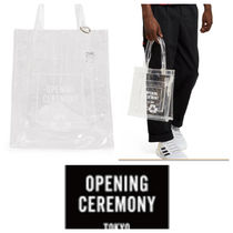 OPENING CEREMONY(オープニングセレモニー) トートバッグ 【OPENING CEREMONY】新作●CLEAR OC TOTE BAG
