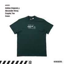 人気話題!adidas Alexander Wang AW Graphic Tee GREEN