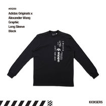 人気話題!adidas Alexander Wang AW Graphic Long Sleeve Black