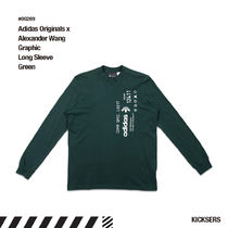 人気話題!adidas Alexander Wang AW Graphic Long Sleeve Green