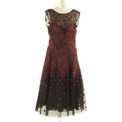 BCBG MAXAZRIA ワンピース 花柄イブニングドレス♪ Floral Embroidered[RESALE]