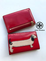 追跡有 TORY BURCH★DACHSHUND SLIM WALLET 折り財布 52793*CUTE