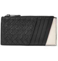 Two-Tone Intrecciato Leather Zipped Cardholder カードケース