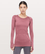 軽い着心地*Swiftly Tech Long Sleeve Crew / Misty Merlot