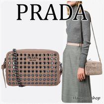 VIP価格PRADA★Diagramme日本未入荷crystal quiltedレザーバッグ
