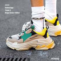 人気話題!Balenciaga Triple S Beige Green Yellow 2018